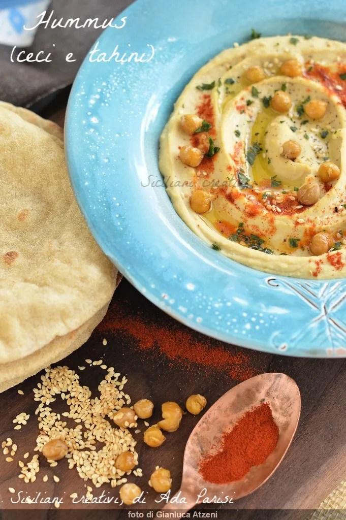 Kichererbsen und Tahini-Hummus