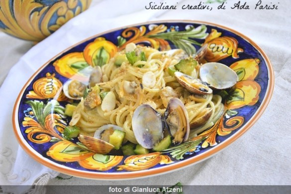 Spaghetti zucchine e vongole veraci
