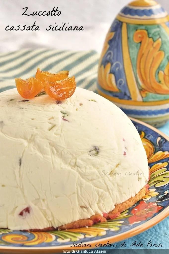Sizilianischecassata-Eis (Schädeldecke)