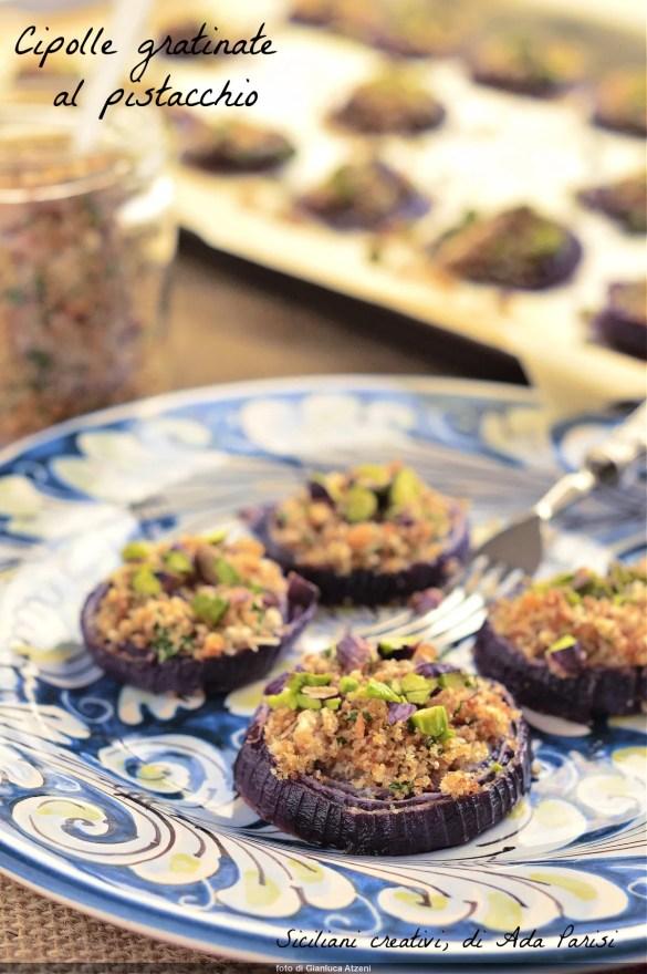 Oignons de pistache râpés