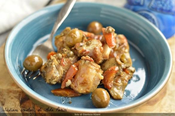 Sardisches Kaninchen (Saft), Eintopf mit Oliven