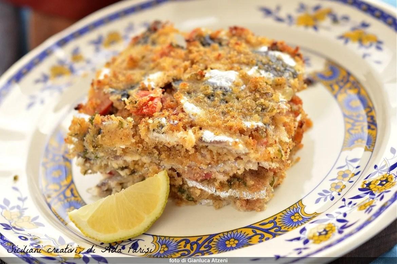 Sicilian gratin baked sardines