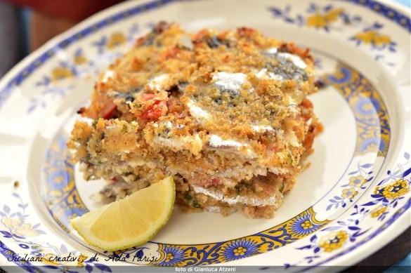 Sardines cuites au four au gratin sicilien