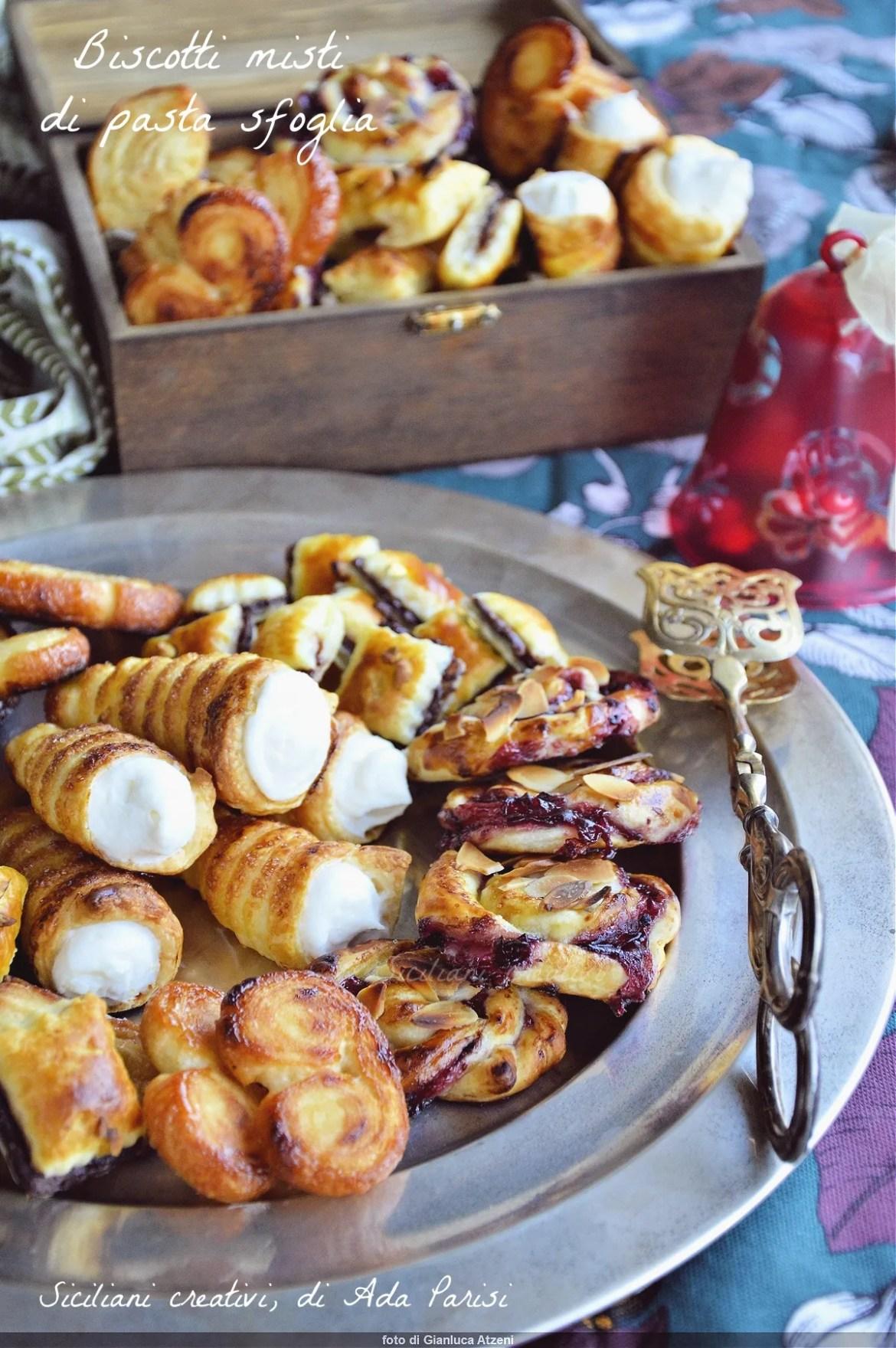 Biscuits mélangés de pâte feuilletée
