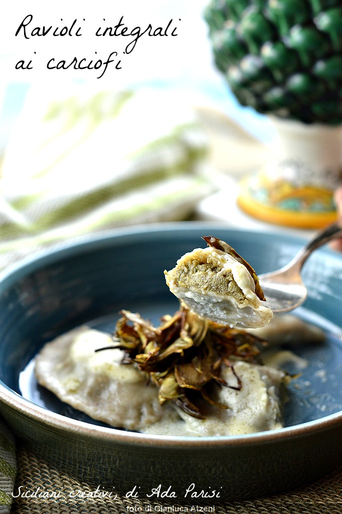 Raviolis aux artichauts Intégrales