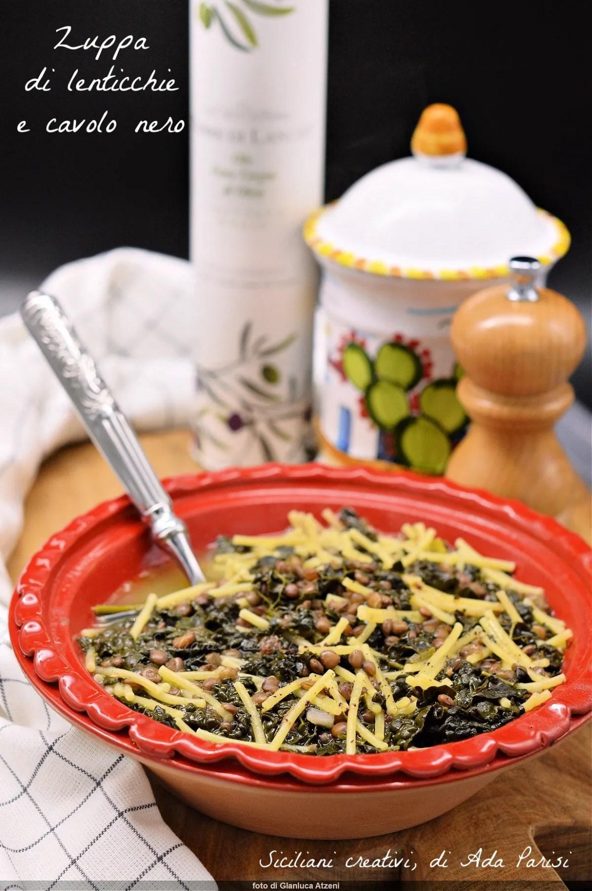 Zuppa di lenticchie e cavolo nero