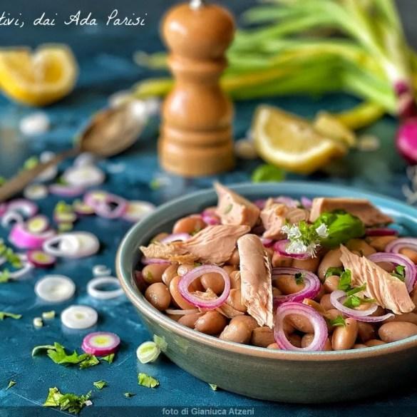 Insalata di fagioli tonno e cipolle