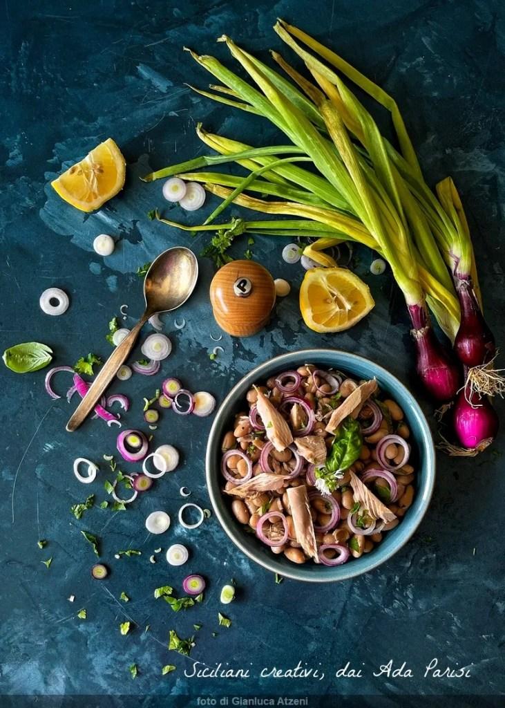 Salade de haricots thon et oignons