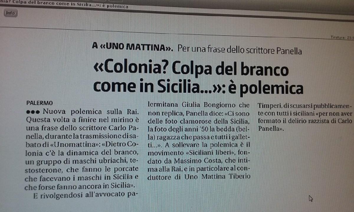 Giornale di Sicilia edizione del 18/01/2016