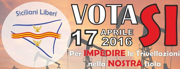 Siciliani Liberi nella piazze delle nostre città per il Sì al referendum