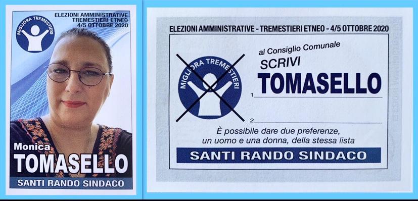 Monica Tomasello, candidata Siciliana Libera a Tremestieri Etneo
