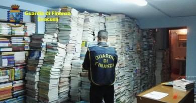 Cronaca. Sequestrati oltre 67.000 testi scolastici illeciti, deferito commerciante di Augusta