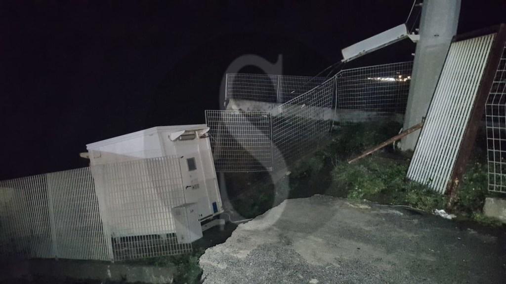 Maltempo a Messina: il piazzale della stazione FS di Contesse devastato dai marosi