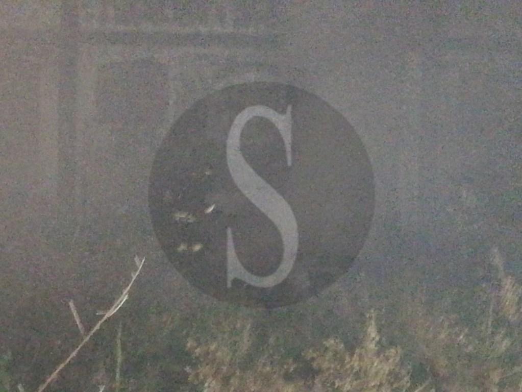 Incendio in un capannone dell'area ex Pirelli di Villafranca Tirrena