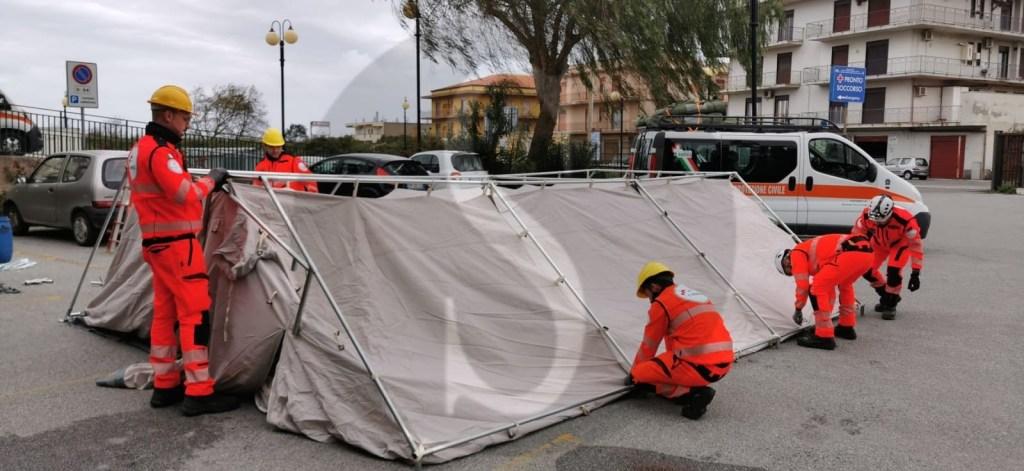 Emergenza coronavirus, a Barcellona PG arrivano le tende pre-triage al Pronto Soccorso del Cutroni Zodda