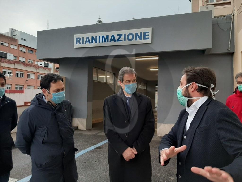 Emergenza coronavirus a Messina, sopralluogo di Musumeci e Razza in città