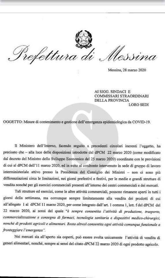 Coronavirus Messina, De Luca: basta con le file nei supermercati altrimenti la tessera