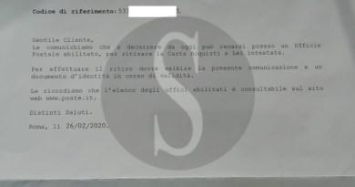Messina, è gravemente malato ma Poste Italiane pretende che ritiri personalmente la carta acquisti