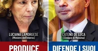 Lamorgese vs De Luca, il Consiglio dei Ministri annulla l'ordinanza del sindaco di Messina