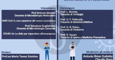 SARS-COV2 tra ricerca e approccio clinico, 5.000 studenti UniME per i webinar di ORUM e Morgana