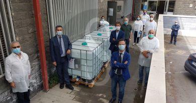 Italia unita da Nord a Sud, UniCt dona 3.000 litri di gel igienizzante a Bergamo e Somaglie