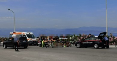Milazzo – Incidente moto-bici a Ponente, ciclista ferito