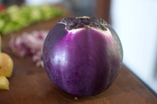This is what the Viola eggplant varietal looks like.