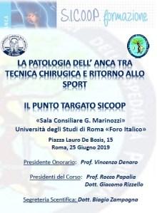 25 GIU | La Patologia dell'anca tra Tecnica Chirurgica e Ritorno allo Sport - Il Punto Targato S.I.C.O.O.P.