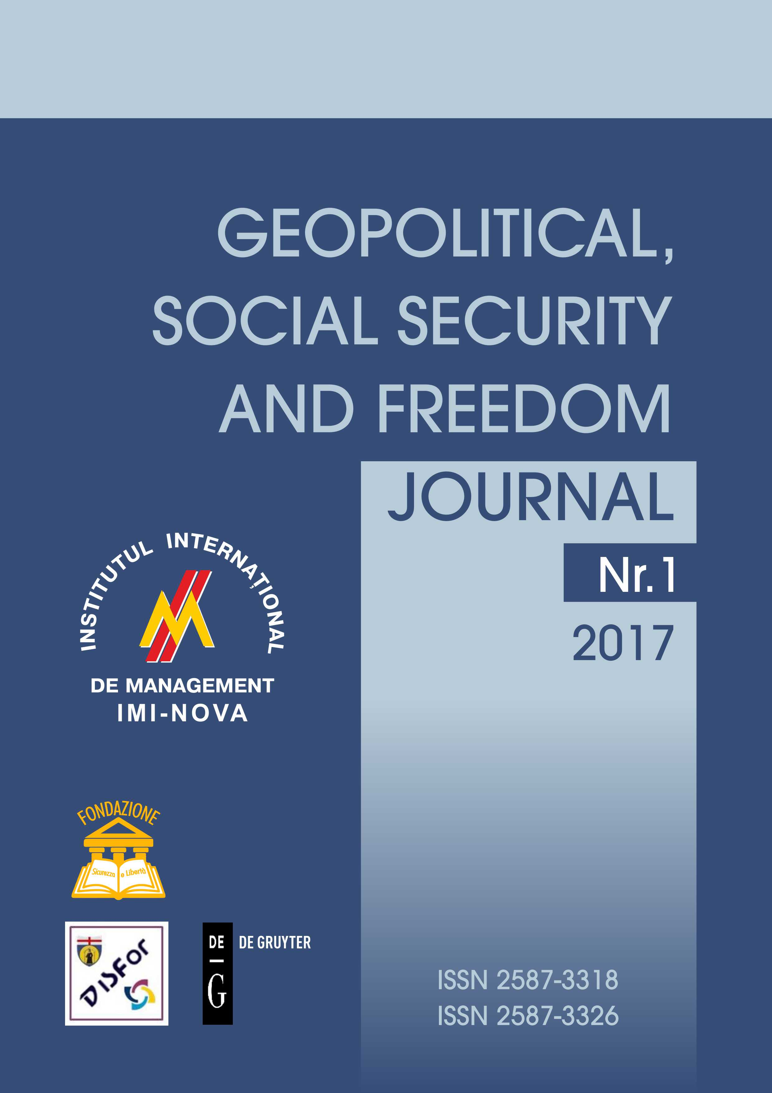 N.1 2017 – GEOPOLITICAL, SOCIAL SECURITY AND FREEDOM JOURNAL
