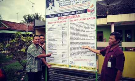 Persiapan Pemilihan Kepala Desa Sidamukti periode 2019-2025