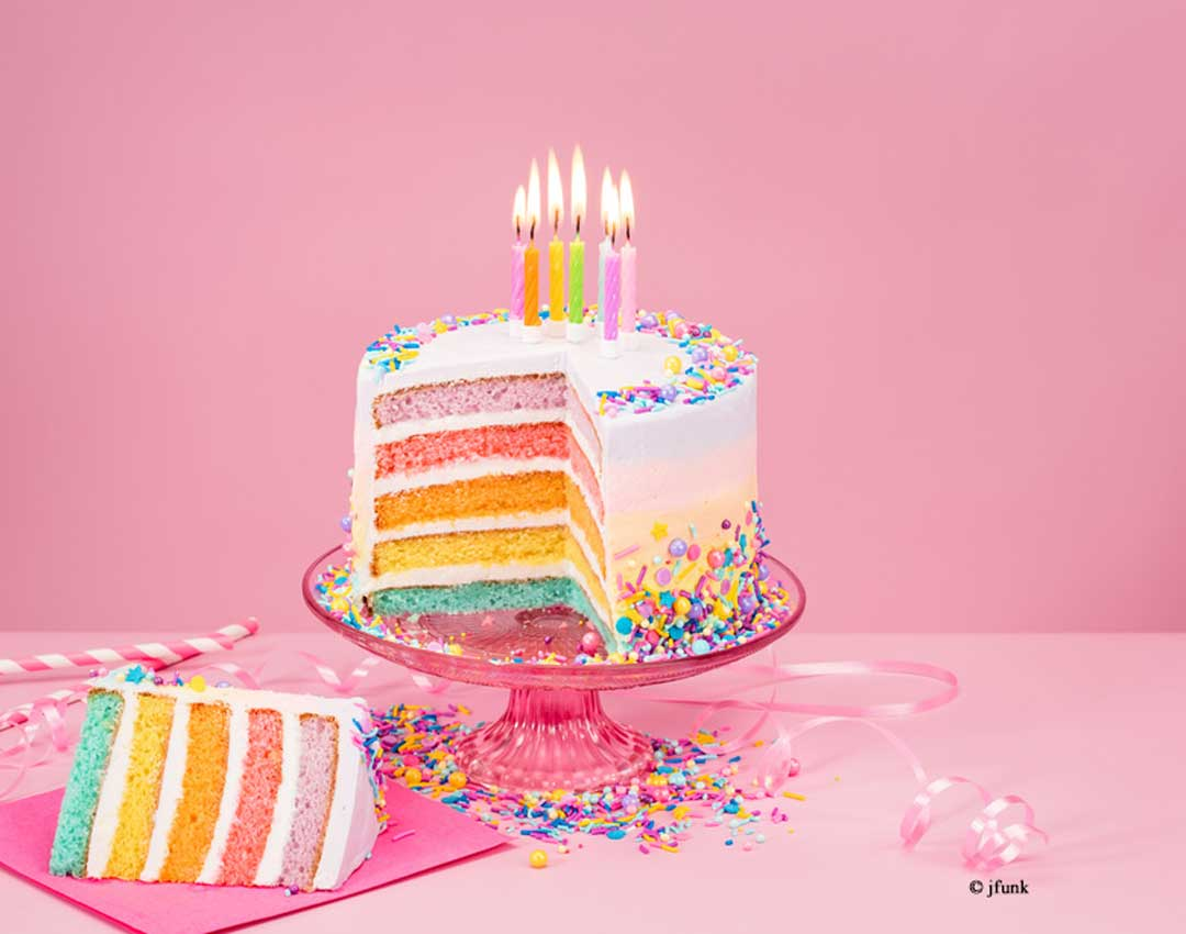 Regenbogen Torte Regenbogenkuchen Rainbow Cake Sidco