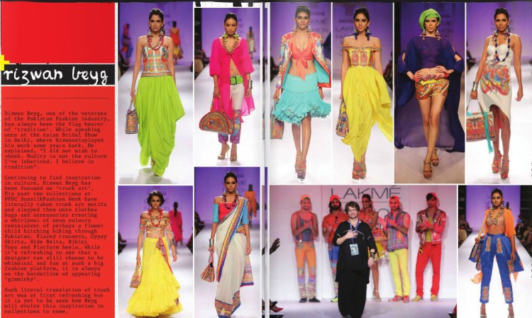 Rizwan Beyg at Lakme India Fashion Week