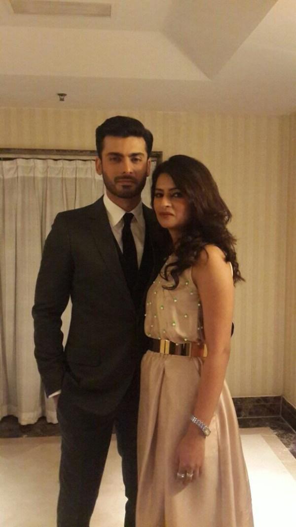 Fawad Khan and Sadaf Fawad at Filmfare Awards