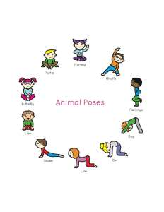 Occupational therapy activity- animal pose yoga