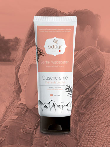Molke-Duschcreme Sanfter Waldzauber von Sidefyn Cosmetics