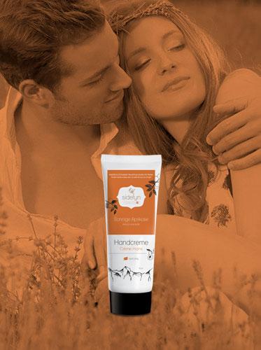 Handcreme 30 g Sonnige Aprikose Sidefyn Cosmetics Naturkosmetik mit Molke