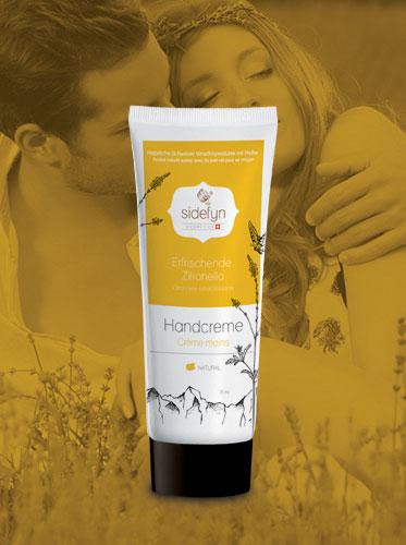 Crème mains Citronnelle rafraichissante avec du petit-lait de Sidefyn Cosmetics