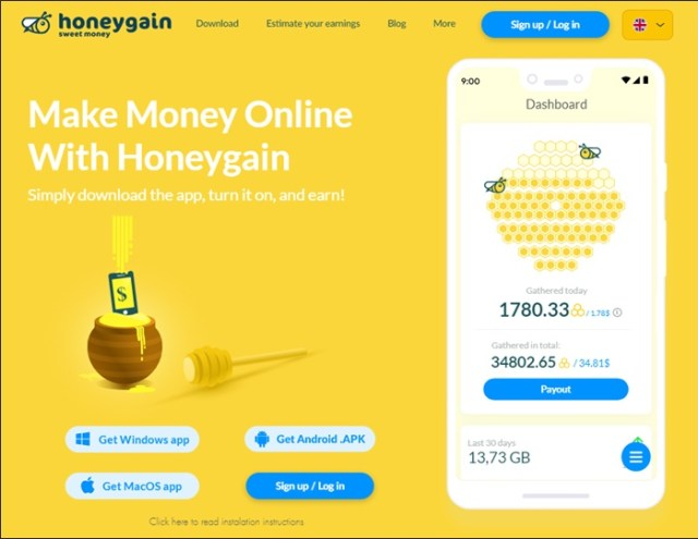 free money with honeygain