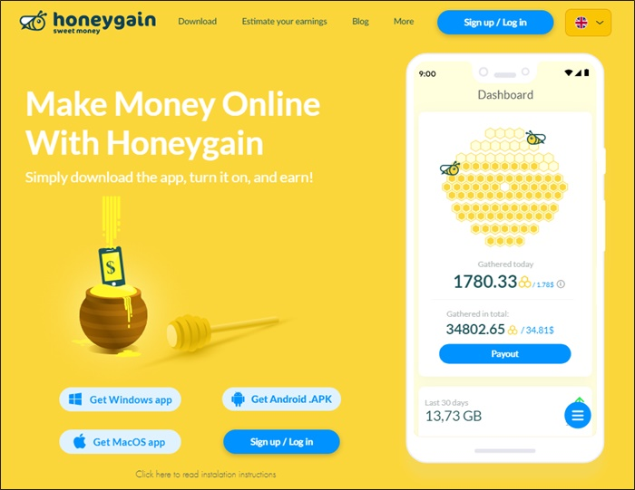 free money with honeygain