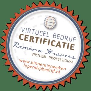 Certificaat Virtueel Professional Ramona Stravers