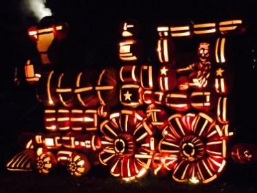 Jack O' Lantern train at the Great Jack O' Lantern Blaze