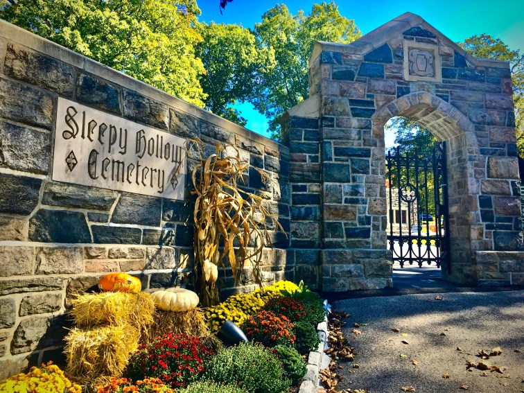 Sleepy Hollow Cemetery decorated for Fall
