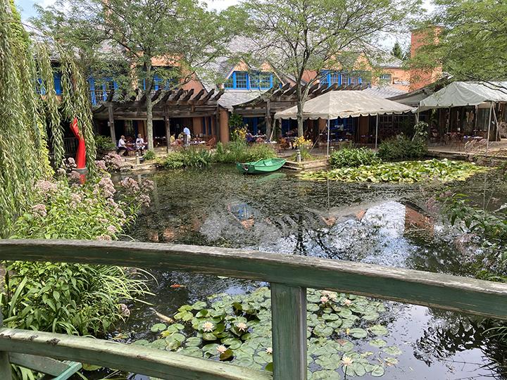 Monet's Bridge in the Rat's Woodlands area of GFS offers an enticing view of popular Rat's Restaurant.