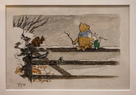 Winnie the Pooh and Piglet Illustration, EH Shepard