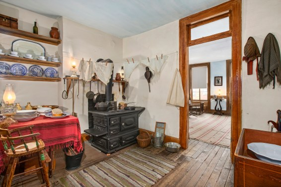 In the 1860s, the Moores' small three-room apartment at 97 Orchard Street was a step up from the slums of New York's Five Points neighborhood. Photo by Ryan Lahiff, courtesy of the Tenement Museum.