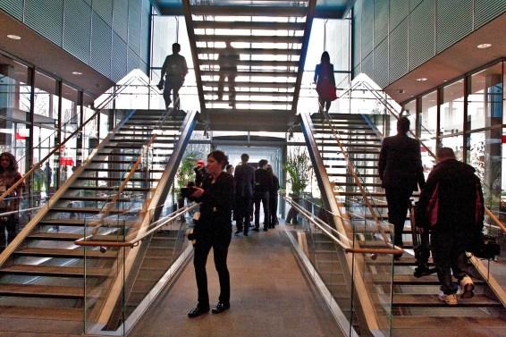 Interior lobby of the Renzo Piano addition