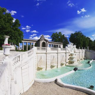 Sunken fountains and Colonnade, photo credit: Nemours
