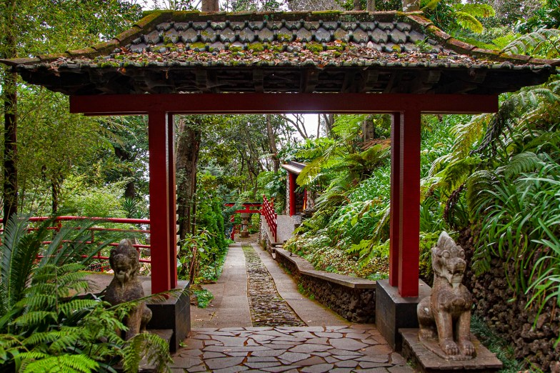 Japanese inspired garden. Monte Tropical Garden, Funchal, Maderia