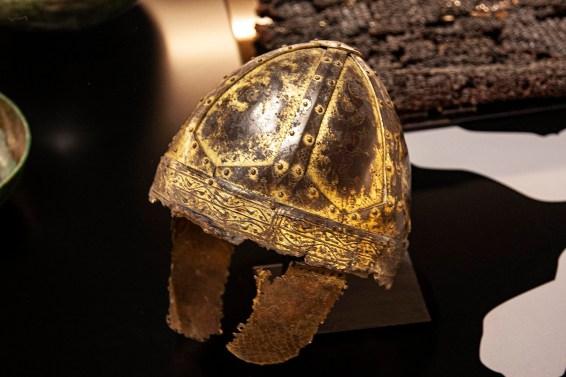 Ancient warrior's helmet. Landesmuseum Stuttgart