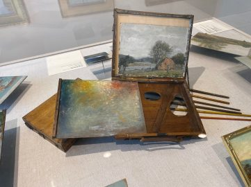 Artists visiting Old Lyme used portable sketchboxes like this one displayed at the museum.